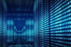 Виртуальные стены номеров Концепция электронных мира и реальности иллюстрация вектора