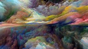 Виртуальный абстрактный ландшафт стоковая фотография