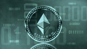Виртуальный знак Ethereum cryptocurrency Стоковые Фотографии RF