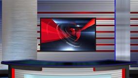 виртуальный конец отдела новостей 2 комплекта иллюстрация штока
