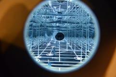 Виртуальный космос составленный множественных отражений стоковая фотография rf