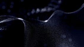 Виртуальный космос с глубиной поля для элементов HUD цифровых Предпосылка петли черная иллюстрируя микрокосм или акции видеоматериалы