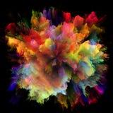 Виртуальный красочный взрыв выплеска краски стоковые фотографии rf