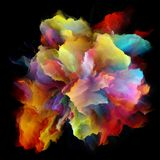 Виртуальный красочный взрыв выплеска краски стоковые изображения rf