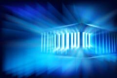 Виртуальный мир - здание также вектор иллюстрации притяжки corel Стоковая Фотография