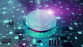 Виртуальный символ Ethereum cryptocurrency Стоковые Фотографии RF