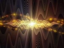 Виртуализация световых волн Стоковое Изображение RF