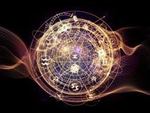 Виртуальная жизнь священной геометрии Стоковые Изображения