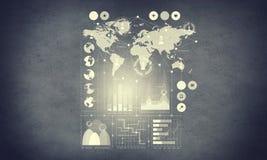 Виртуальная предпосылка интерфейса Мультимедиа Стоковые Изображения RF