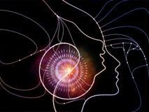 Виртуальная сеть мысли Стоковое Изображение