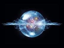 Виртуальная частица волны иллюстрация вектора