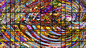 Виртуальное освинцованное стекло Стоковое Изображение RF