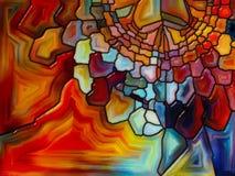 Виртуальное цветное стекло Стоковое Изображение