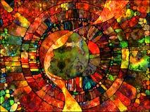 Виртуальное цветное стекло Стоковая Фотография RF
