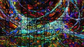 Виртуальное цветное стекло Стоковые Фото