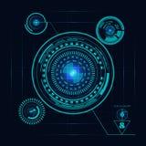 Виртуальные элементы hud для футуристического дизайна Иллюстрация вектора