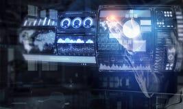 Виртуальные tehnologies в пользе Мультимедиа Стоковое Фото