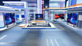 Виртуальный отдел новостей C1 студии сток-видео
