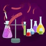 Вирусы заразили организм, вирусную эпидемию заболеванием, вакционное исследование Стоковые Фотографии RF