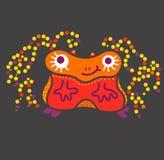 Вирус бактерий сути твари изверга смешной и низкий уровень и квадрат Стоковая Фотография RF