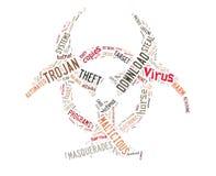 вирус иллюстрации компьютера предпосылки Стоковая Фотография