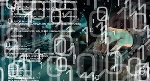 Вирус кодирвоания хакера троянский, cyberwarfare Стоковая Фотография RF