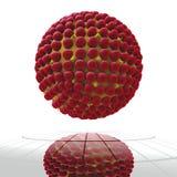 вирус красного цвета клетки Стоковые Фото
