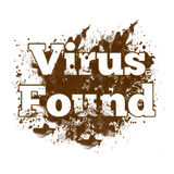 Вирус нашел грязная помарка Стоковое Изображение RF