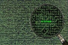 вирус скеннирования компьютера Стоковое фото RF