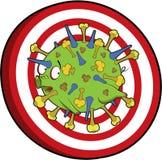 вирус цели гриппа земли Стоковые Изображения