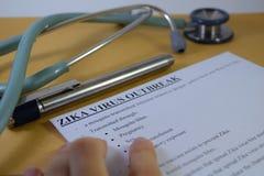 Вирус Zika Стоковые Фотографии RF