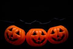 Висеть много ужас или страшная тыква для концепции дня хеллоуина Стоковое Фото