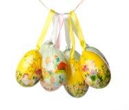 Висеть пасхальных яя Стоковые Фото