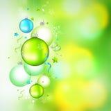 висеть рождества baubles зеленый Стоковые Фото