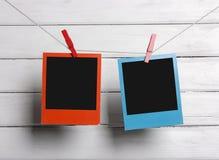 Висеть фото цвета поляроидный Стоковая Фотография RF