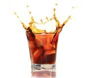 виски выплеска стоковая фотография rf