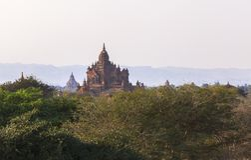 Виски в Bagan, Мьянме Стоковое Изображение RF