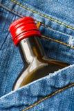 виски джинсовой ткани Стоковая Фотография RF