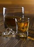 Виски и естественный лед Стоковое Фото