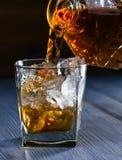 Виски и естественный лед Стоковые Фото