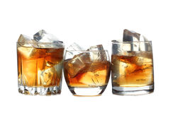 Виски и лед 7 Стоковое Изображение