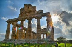 Виски и руины древнегреческия стоковые фото