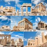 Виски на холме акрополя в Афинах, Греции, на яркий день стоковые фотографии rf