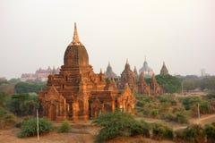 Виски, пагоды и stupas Bagan (Мьянма) стоковые фотографии rf