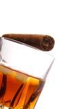виски сигары Стоковые Фотографии RF