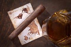 виски сигары Стоковые Фото