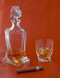 виски сигары Стоковое Изображение RF