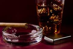 виски сигары Стоковое Фото