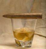 виски сигары Стоковые Изображения RF