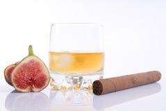 виски смоквы сигары Стоковые Фотографии RF